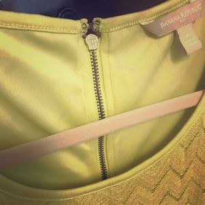 Lime green sleeveless dressy top